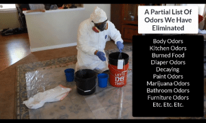 Powerful de-odorizer & disinfectent